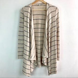 AEO• Stripe cascading open knit cardigan